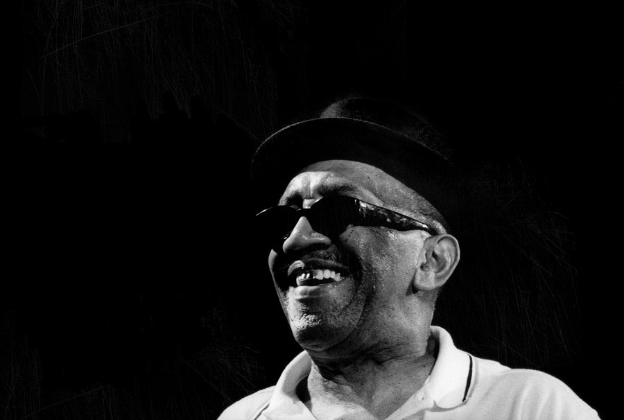 Laurel Aitken black and white photo of the Godfather of Ska